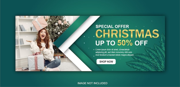 Merry christmas template Premium Vector