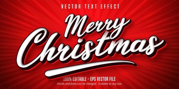 メリークリスマスのテキスト効果 Premiumベクター