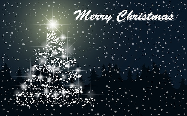 Merry christmas wallpaper Free Vector