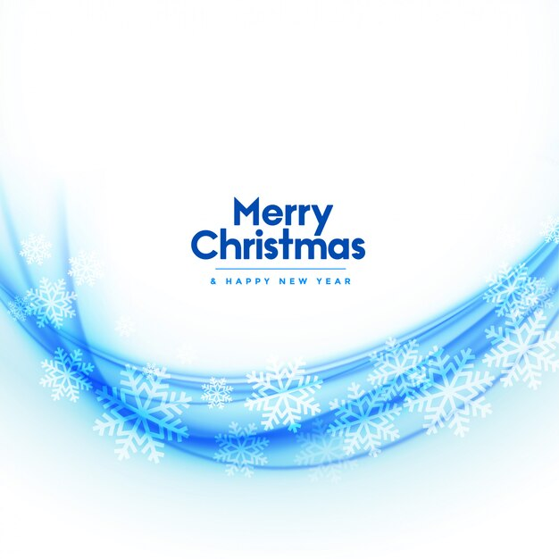Merry christmas white background with snowflake breeze Free Vector