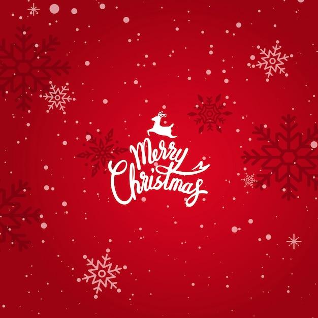 메리 크리스마스 겨울 휴가 인사말 카드 무료 벡터
