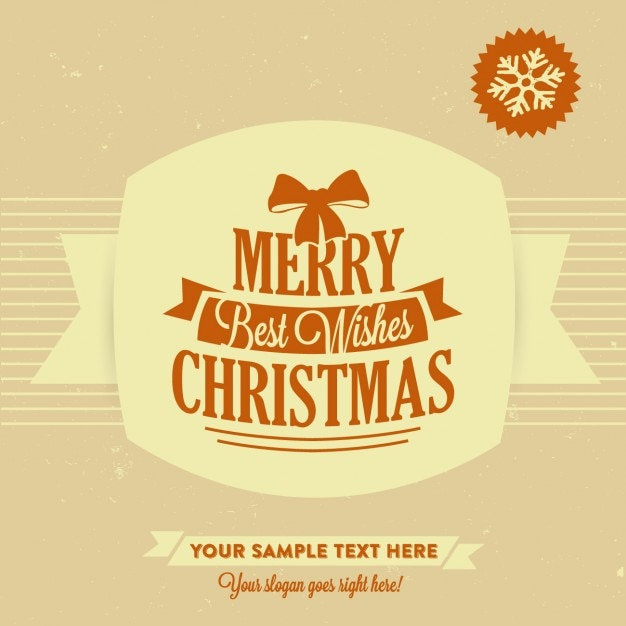 Merry christmas wishes template Vector | Free Download