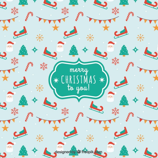 Christmas Backgrounds Cute.Merry Christmas To You Background In Cute Style Vector