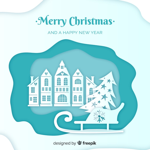 Merry christmas Free Vector