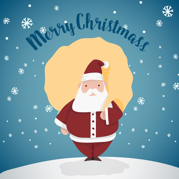 Merry christmass santa Premium Vector