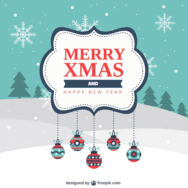merry xmas and happy new year label free vector