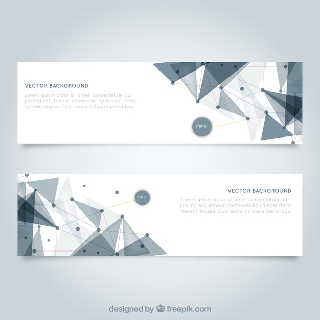 Mesh banners template Vector | Free Download