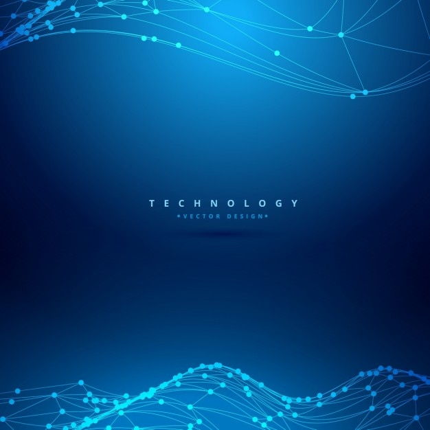 Mesh wireframe wave technology\ background