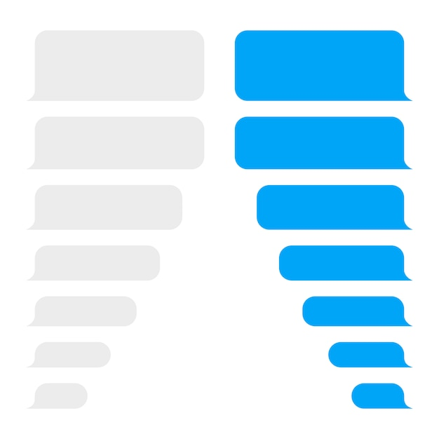 Message bubbles design template for messenger chat or website. Premium Vector