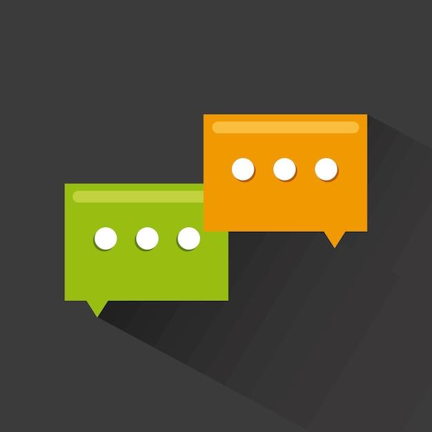 Message concept Premium Vector