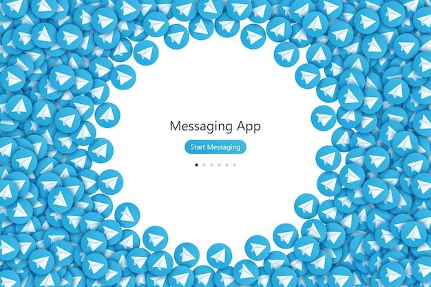 Messaging app ui ux design Premium Vector