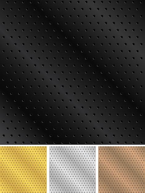 Metal backgrounds Premium Vector