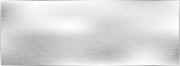 Metal brushed texture background, grey metal Premium Vector
