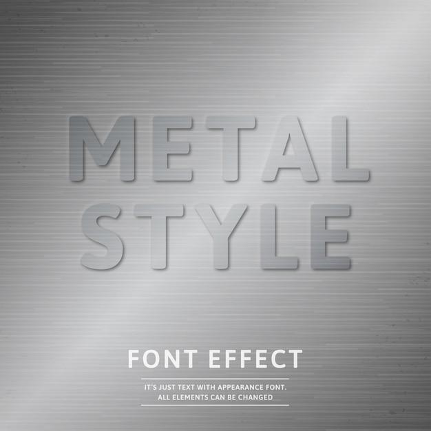 Metal font effect Premium Vector