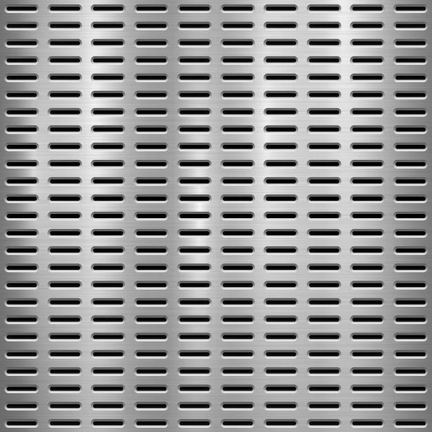 Metal perforated background Premium Vector