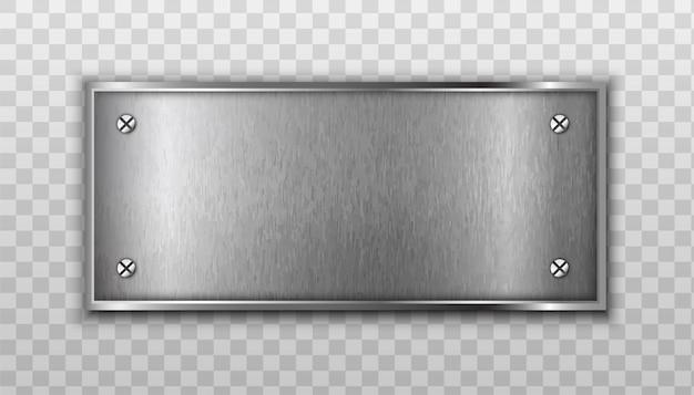 Piastra metallica isolato su trasparente Vettore gratuito