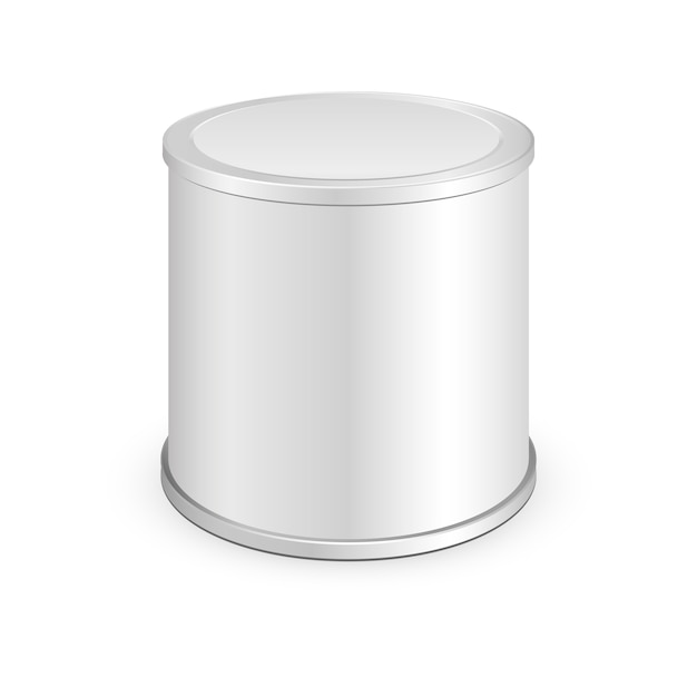Metal tin can, canned food. illustration isolated Premium Vector