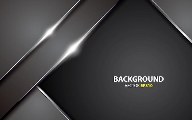 Metallic abstract background vector Premium Vector