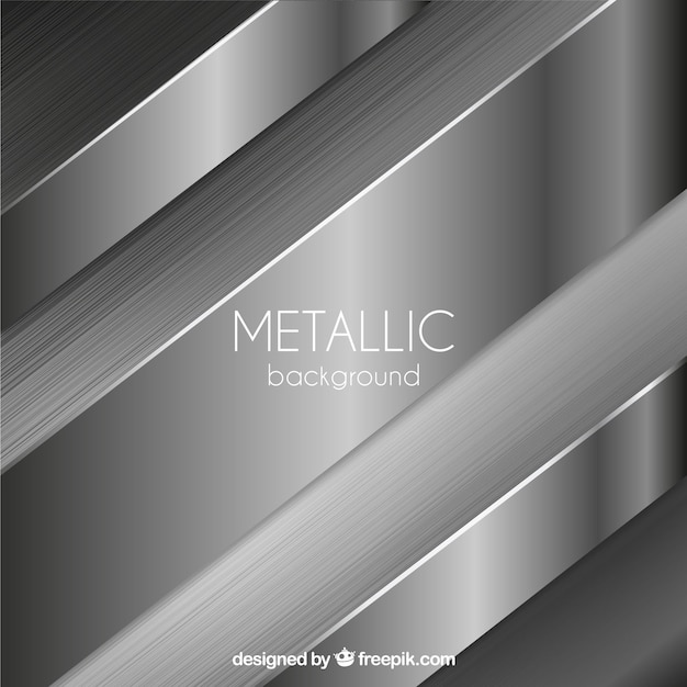 Metallic background with abstract shapes Free Vector
