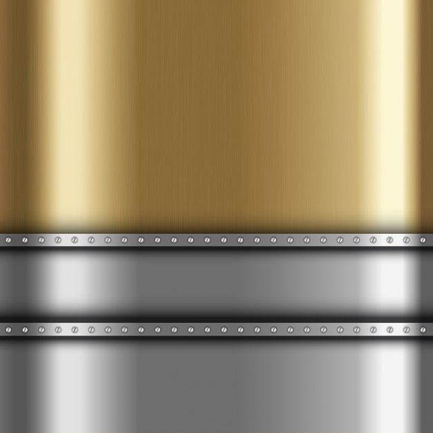 Metallic background with gold and silver\ metal