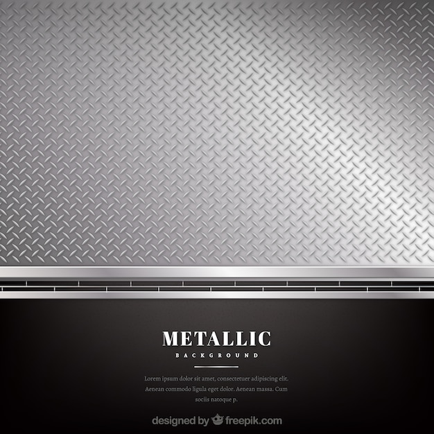 Metallic black and silver background Free Vector