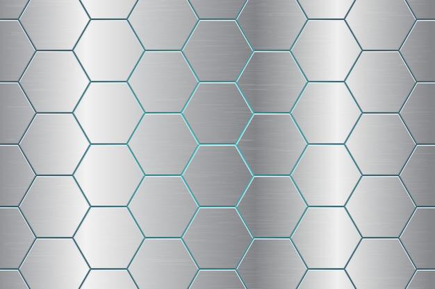 Metallic comb abstract background illustration Premium Vector
