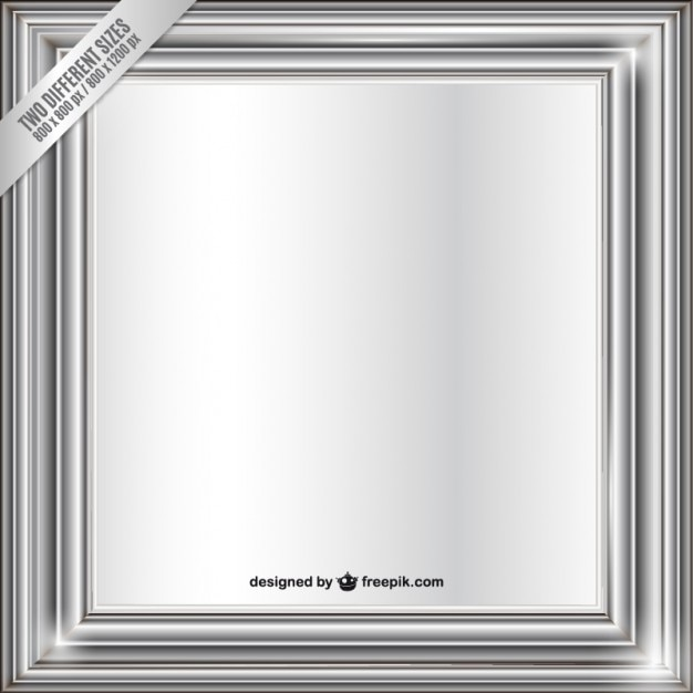 Metallic frame Free Vector