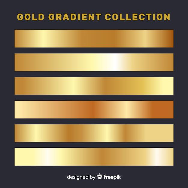 Metallic gradient stripes collection Free Vector