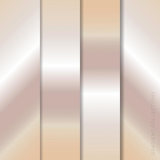 Metallic gradients collections pack Premium Vector