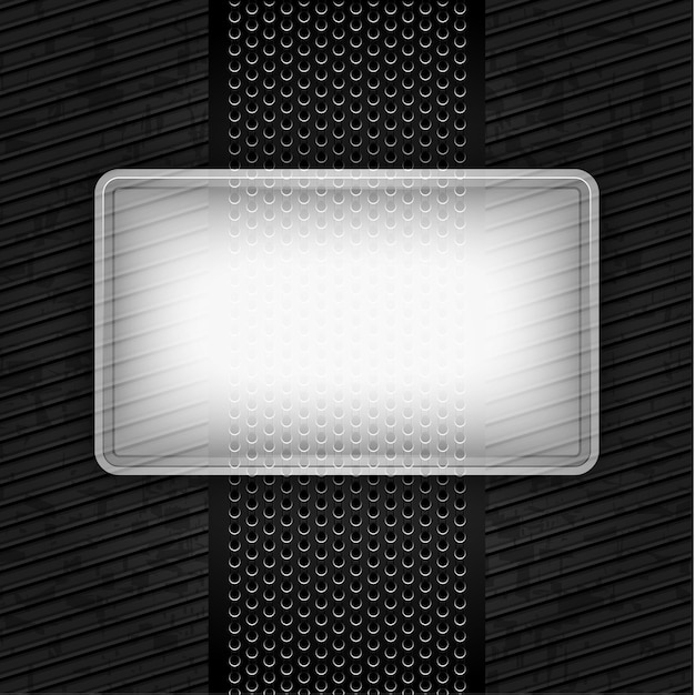 Metallic grunge template, perforated iron Premium Vector
