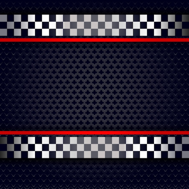 Metallic perforated sheet background for race Premium Vector