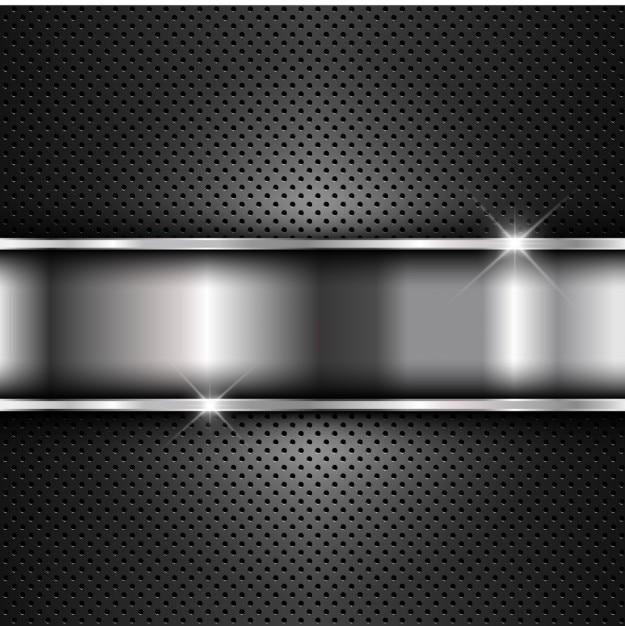 Metallic plate on metal background Free Vector