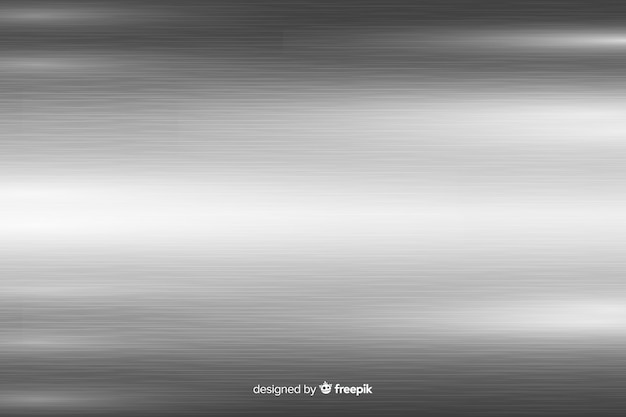 Metallic texture background with grey horizontal lines Free Vector