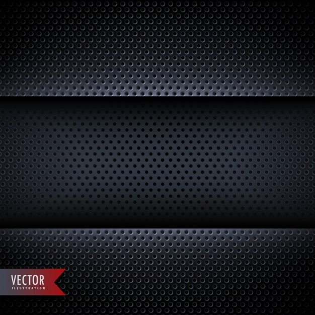 Metallic texture with black dots Free Vector
