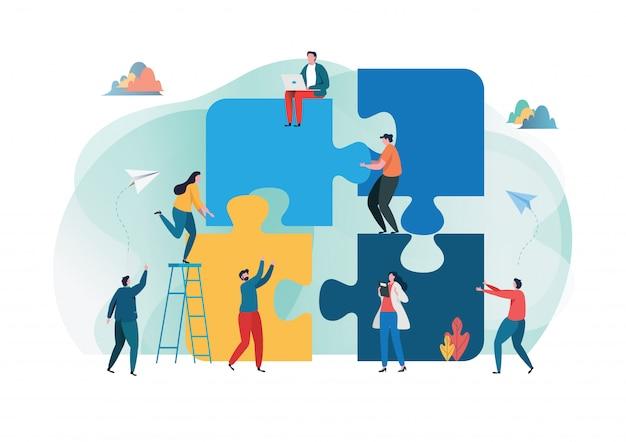 Metaphor teamwork Premium Vector