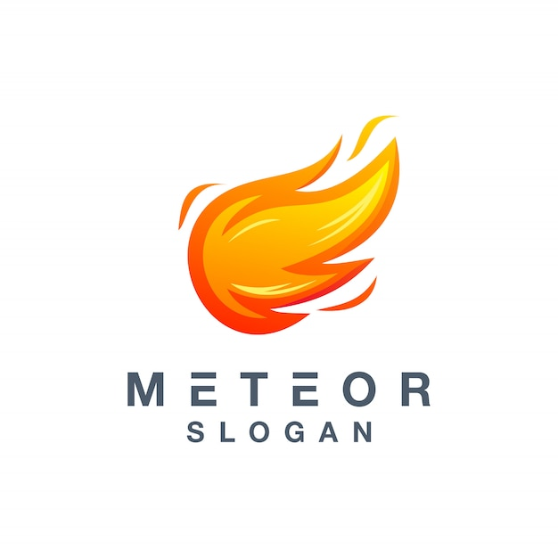 Meteor logo design ready to use for your company Premium Vector
