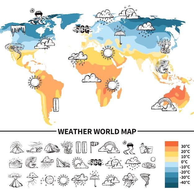 Meteorology design concept Free Vector