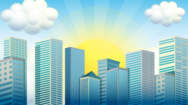 Metro downtown element town area Free Vector