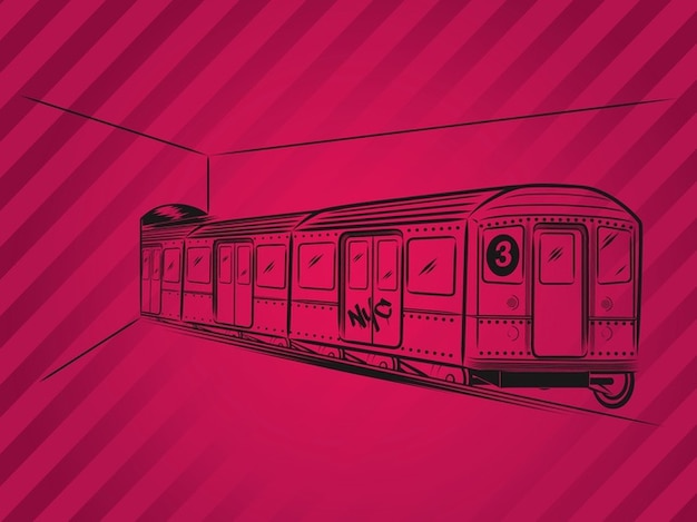 Metropolitan public transport Subway train\ vector