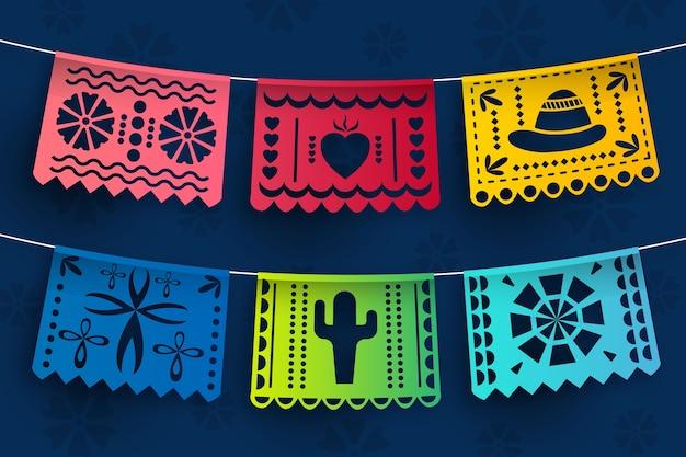Collezione di stamina messicana Vettore gratuito