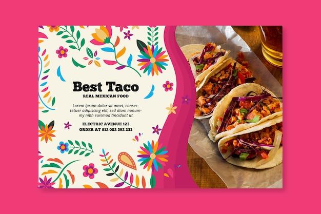 Modello di banner di cibo messicano Vettore gratuito
