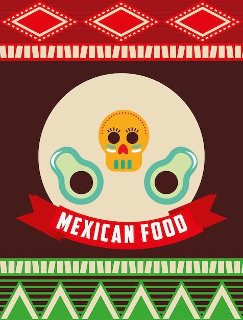 Mexican food design Premium Vector