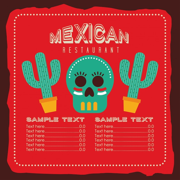 Mexican food design Premium Vector