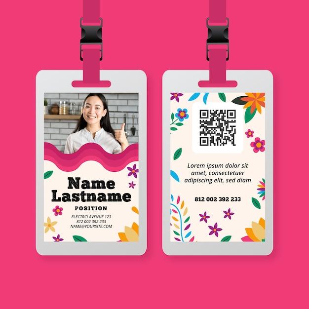 Modello di carta d'identità cibo messicano Vettore gratuito