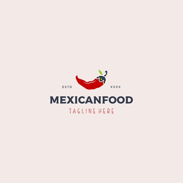 Mexican food logo template Premium Vector