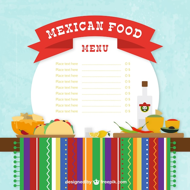 exelent mexican food menu template ideas resume ideas