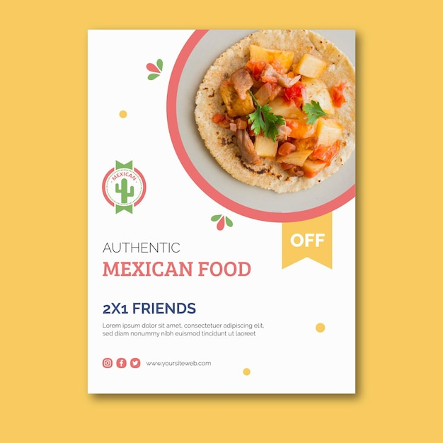 Mexican food poster Free Vector