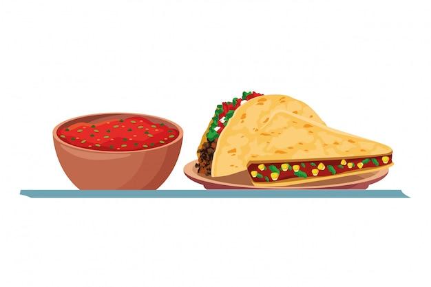 Mexican food and tradicional culture Premium Vector