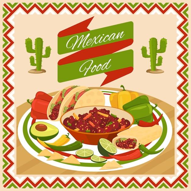Cibo messicano. verdura e peperoncino, avocado e lime, freschi tradizionali naturali Vettore gratuito