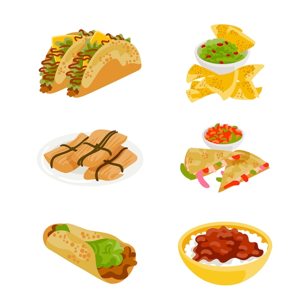 Mexican food Free Vector